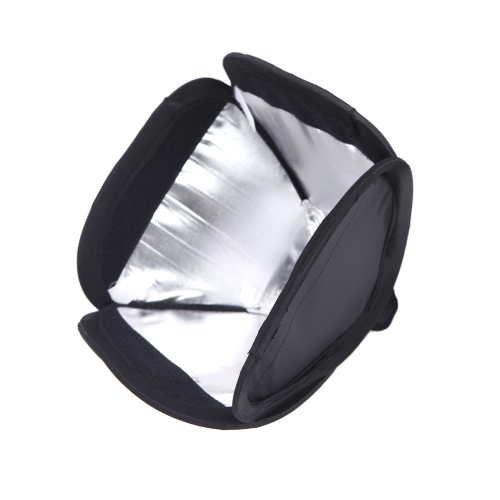 28 * 28cm / 11 * 11in Mini Portable Photo Studio Softbox Diffuser for Flash SpeedliteSoftboxes<br>28 * 28cm / 11 * 11in Mini Portable Photo Studio Softbox Diffuser for Flash Speedlite<br><br>Blade Length: 27.0cm
