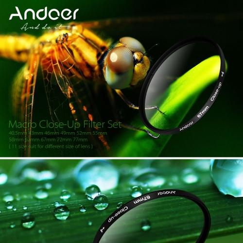 Andoer 72mm Macro Close-Up Filter Set +1 +2 +4 +10 with Pouch for Nikon Canon DSLRsCamera Lenses<br>Andoer 72mm Macro Close-Up Filter Set +1 +2 +4 +10 with Pouch for Nikon Canon DSLRs<br><br>Blade Length: 10.0cm