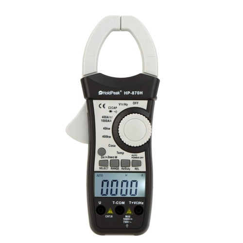 DIY Electronics E0242 HoldPeak HP-870H WATT Power Measurement Dual Display AC/DC Clamp Meter Voltage Current Resistance Capacitance Frequency Temperature Tester