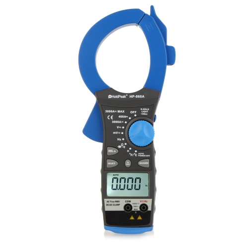 DIY Electronics E0267 HoldPeak HP-860A 3000A Ture RMS Dual Display Clamp Meter AC/DC Voltage Current Resistance Frequency Temperature Mulitimeter