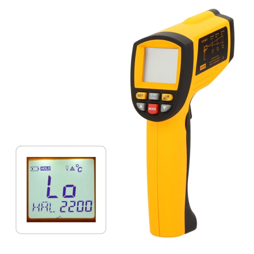 GM1850 LCD sans Contact 80: 1 IR infrarouge Digital thermomètre Laser Gun testeur température 200 ~ 1850? (392 ~ 3362?) avec Interface RS232