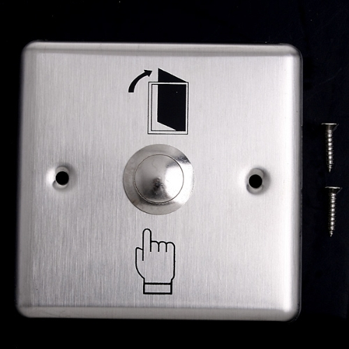 Image of Stainless Steel Door Exit Push Release Button Switch for Access Control