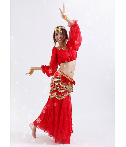 Tops waist link and skirt for belly dance...