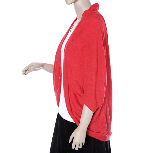 Buy 2012 New Stylish Women's Batwing Cape Poncho Cardigan Sweater Knit Tops Shawl Coat 3 Color