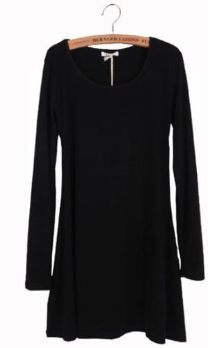 New Women Dress Long Sleeve Grinding Wool Soft Basic One-piece Dress BlackDresses<br>New Women Dress Long Sleeve Grinding Wool Soft Basic One-piece Dress Black<br><br>Blade Length: 30.0cm