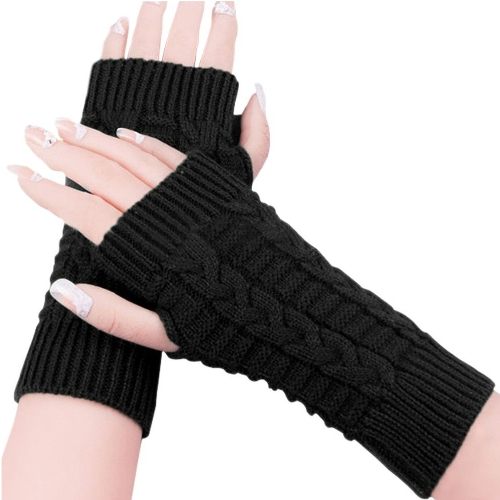 Fashion Women Ladies Winter Gloves Fingerless Knitted Warm Short Mittens