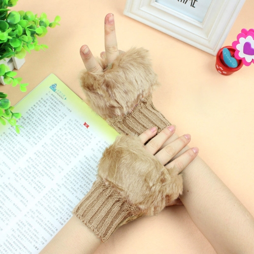 New Fashion Women Gloves Faux Rabbit Fur Fingerless Knitted Warm Short MittensAccessories<br>New Fashion Women Gloves Faux Rabbit Fur Fingerless Knitted Warm Short Mittens<br><br>Blade Length: 25.0cm