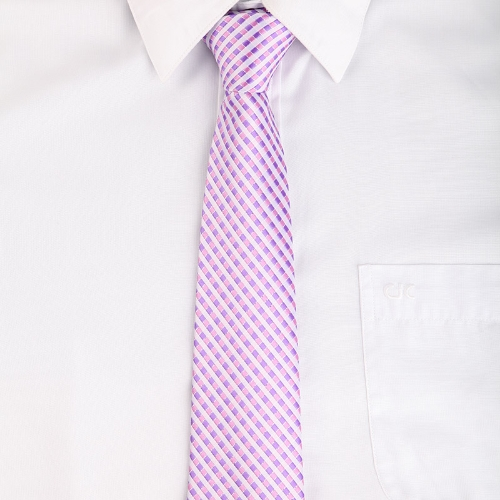 Classic Polyester Mens Tie Necktie Stripe Jacquard Wedding Groom Party LilacAccessories<br>Classic Polyester Mens Tie Necktie Stripe Jacquard Wedding Groom Party Lilac<br><br>Blade Length: 17.0cm
