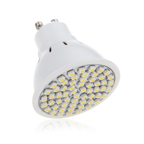 GU10 4W 60SMD 3528 1210 LED Light Bulb Lamp Spotlight Warm White 220V Energy Saving H10000WW