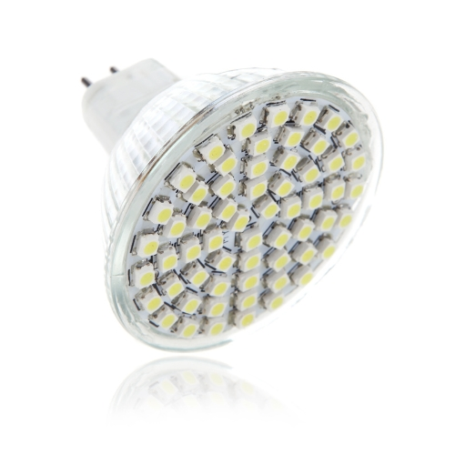 NEW 280-300LM MR16 60 SMD 3528 LED Pure White Home Office Spotlight Bulb Lamp 4W