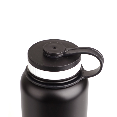 1000ML Stainless Steel Insulated Vacuum Cup Sports Water Bottle Black