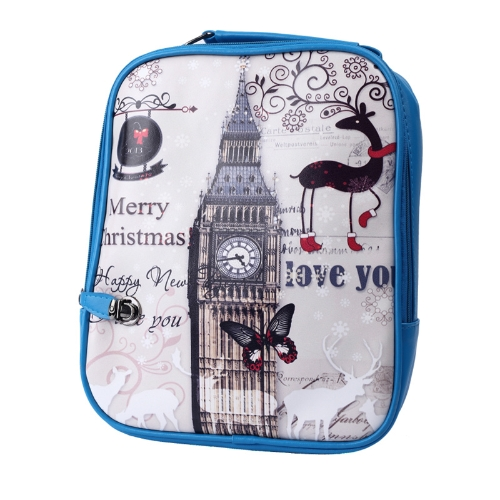 Vintage Women Backpack PU Leather Colorful Print