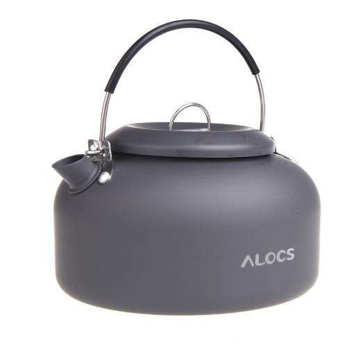 Alocs CW-K03 Outdoor Kettle Camping Picnic Water Teapot Coffee Pot 1.4L Aluminum H10266