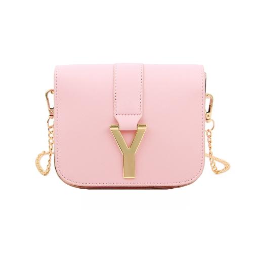 New Fashion Women Chain Bag PU Leather Candy Color Mini Crossbody Shoulder Bag PinkNew Fashion Women Chain Bag PU Leather Candy Color Mini Crossbody Shoulder Bag Pink<br><br>Blade Length: 20.0cm