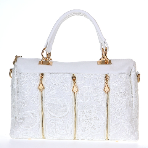 Fashion Womens Lady Retro Lace Handbag PU (Faux) Leather Tote Crossbody Shoulder Bag WhiteFashion Womens Lady Retro Lace Handbag PU (Faux) Leather Tote Crossbody Shoulder Bag White<br><br>Blade Length: 35.0cm