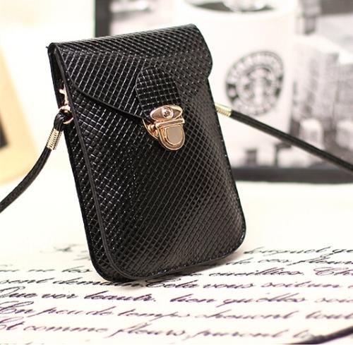 Fashion Women Mini Bag Cell Phone Bag PU Leather Plaid Purse Messenger Bag Shoulder Bag BlackFashion Women Mini Bag Cell Phone Bag PU Leather Plaid Purse Messenger Bag Shoulder Bag Black<br><br>Blade Length: 20.0cm