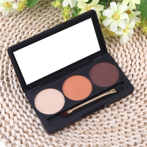 Professional 3 Color Matte Nude Makeup Eyeshadow Palette Eye Shadow w H11483-2