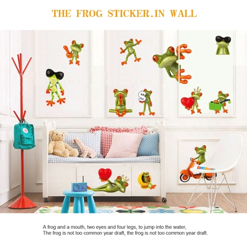 Buy Cartoon Funny Humorous Frog Big Eye Removable Wall Stickers DIY Kid's Child Room Decor Decal