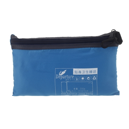 Ultra-light Single Polyester Pongee Healthy Sleeping Bag Liner Portable Camping Travel Sleeping Bag Blue H11641BL