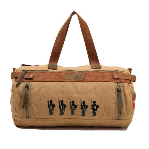 Buy Vintage Men Women Canvas Bag Large Capacity Travelling Luggage Unisex Satchel Shoulder Khaki