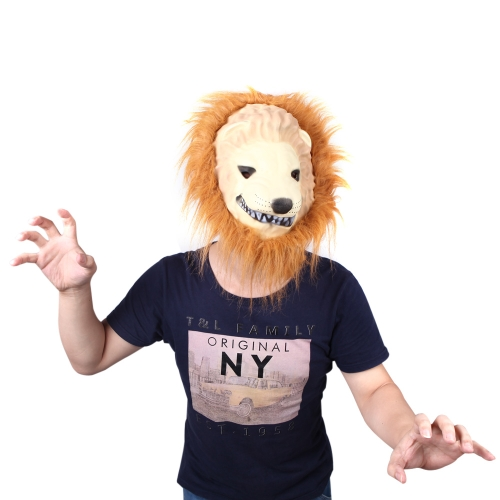 Halloween Great Lion King Mask of Terror Animal Dress Up Simulation Funny Costume Props Masquerade CosplayHalloween Supplies<br>Halloween Great Lion King Mask of Terror Animal Dress Up Simulation Funny Costume Props Masquerade Cosplay<br><br>Blade Length: 28.0cm