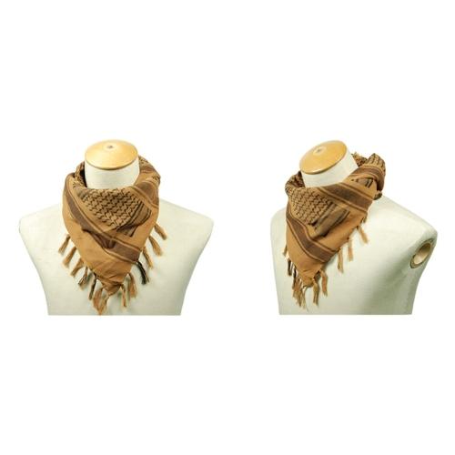 Image For 110*110cm Military Arabian Shemagh Tactical Desert Head Scarf Fringed Shawl Stole Muffler Headdress Unisex 100% Cotton Earth