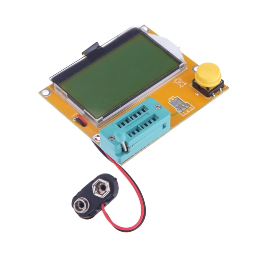 DIY Electronics H11886 128*64 yellow-green LCD Backlight ESR Meter LCR led Transistor Tester Diode Triode Capacitance MOS PNP/NPN