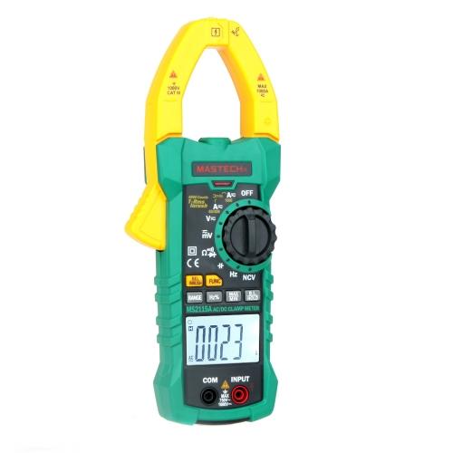 Original MASTECH MS2115A AC/DC pince multimètre numérique multimètre/Auto allant/True RMS/sans contact