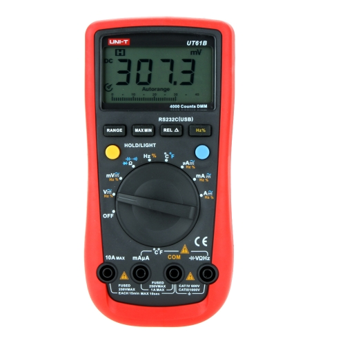 DIY Electronics H12234 UNI-T UT61B Modern Auto Power off LCD Backlight DMM Digital Multimeters W/ Temperature Test