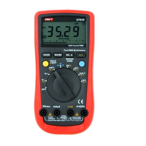 DIY Electronics H12235 UNI-T UT61D Modern True RMS 6000 Counts Auto Range LCD Backlight DMM Digital Multimeters