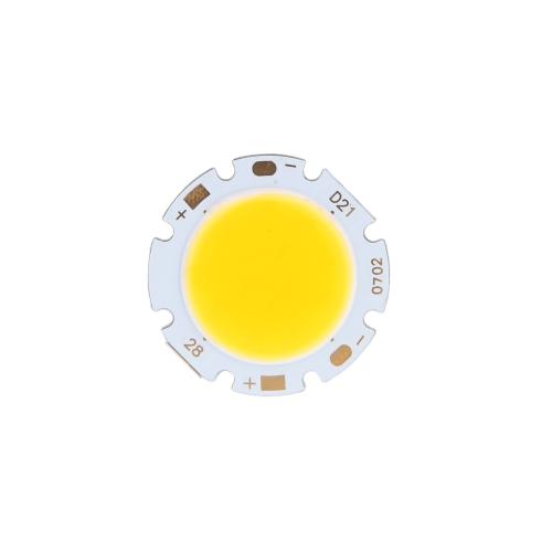 7W Round COB Super Bright LED Chip Light Lamp Bulb Warm White DC16-24VLight Beads<br>7W Round COB Super Bright LED Chip Light Lamp Bulb Warm White DC16-24V<br><br>Blade Length: 4.0cm