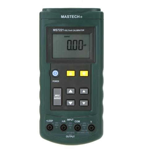 MASTECH MS7221 tension actuel étalon 0 ~ 24mA boucle de courant DC / 0 ~ 10V DC testeur de tension