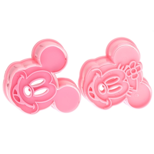 2pcs Mickey Minny Mouse Fondant Cake Cookie Biscuit Mold Embossing Craft DIY Decorating Tools Set