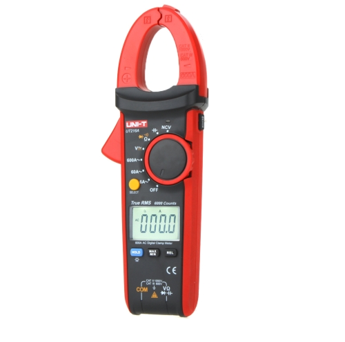 UNI-T UT216A True RMS Digital Clamp Meters Auto Range w/ NCV Capacitance AC/DC Voltage AC Current Ohm Test