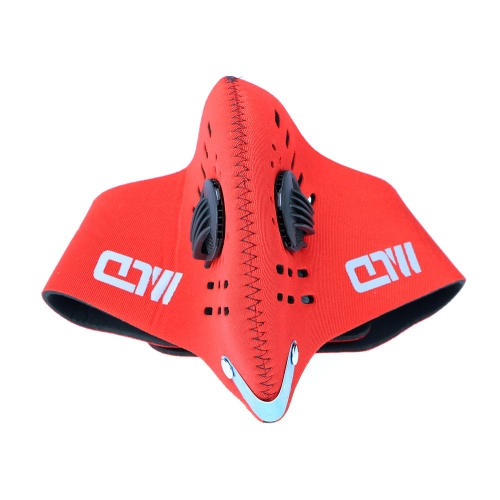 Cycling Bicycle Motorcycle Riding Outdoor Sports Ski Snowboard Activated Carbon Protective Filter Face Mask Thermal Wind-proof Anti-pollution Dustproof Mouth-muffle PM2.5 H12681R