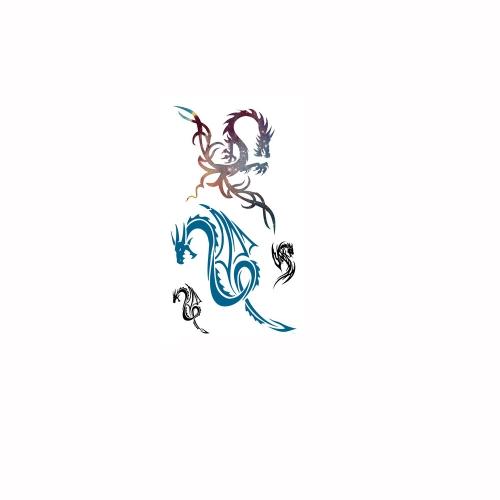 Tattoo Sticker Dragon Pattern Waterproof Temporary Tattooing Paper Body ArtBody Art &amp; Accessories<br>Tattoo Sticker Dragon Pattern Waterproof Temporary Tattooing Paper Body Art<br><br>Blade Length: 10.5cm