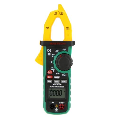 MASTECH MS2109A Auto Ranging Digital AC/DC Clamp Meter Capacité Fréquence Température & NCV Testeur