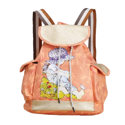 Fashion Women Candy Color Backpack PU Leather