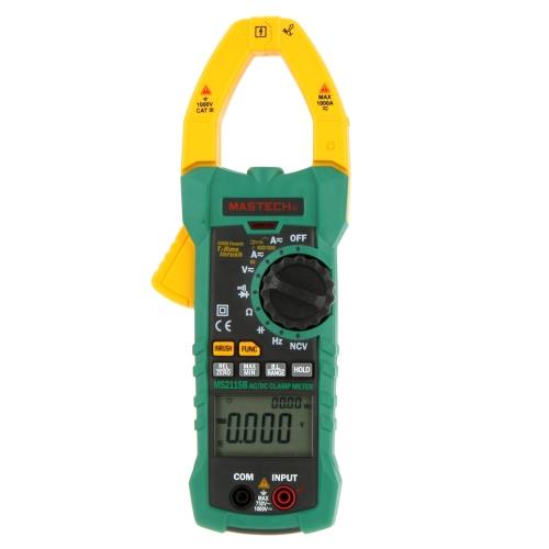 MASTECH MS2115B True RMS AC/DC Pince mètres capacité fréquence testeur W/USB Interface numérique & NCV
