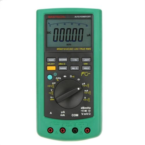 MASTECH MS8218 50000 comtes haute précision True RMS DMM dB multimètre numérique multimètre w/RS232 Interface