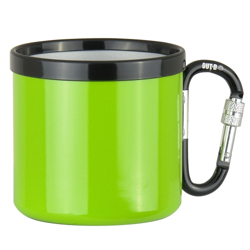 Outdoor Camping Ultralight Portable 400ML Aluminum Alloy Travel Water Cup with Screw Lock Buckle H13227GR