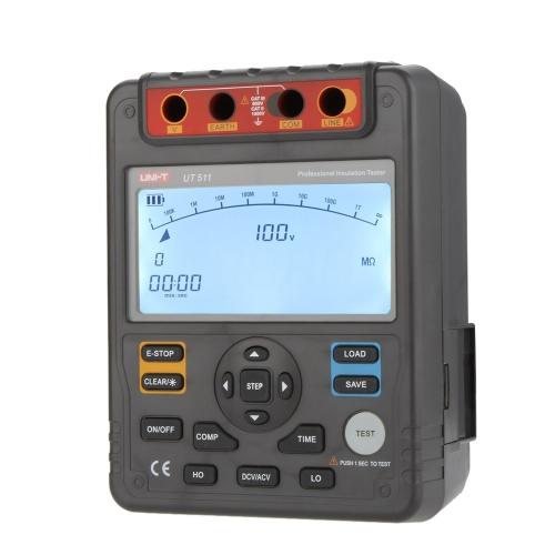 DIY Electronics H13537 UNI-T UT511 Insulation Resistance Testers Megohmmeter Low Ohmmeter Voltmeter Auto Range 1000V 10G¦¸