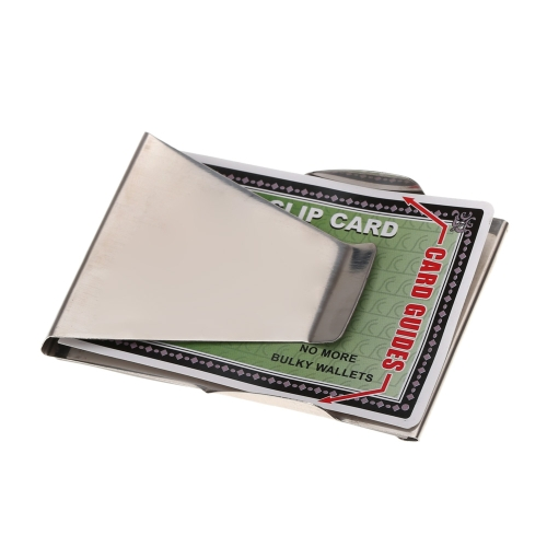 Image of Double-Sided Money Clip Stainless Steel Cash Clips Slim Clip Credit Card Holder