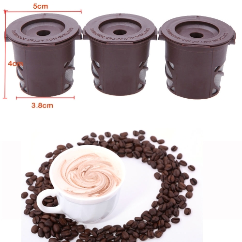 3pcs/Set Coffee Cafe Cup Reusable Single Mesh Filter K-CUP