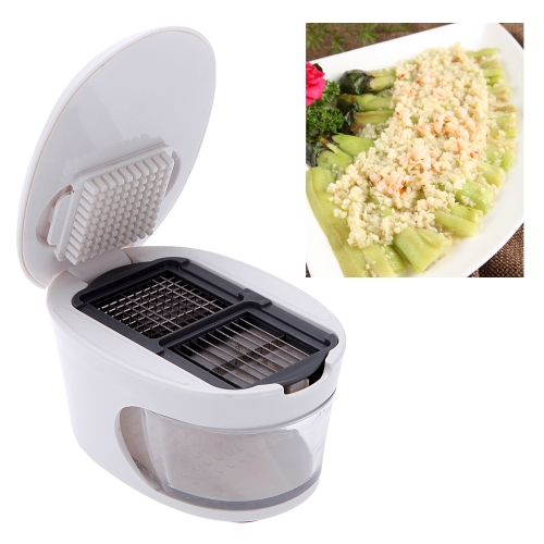 Image of 3 in 1 Garlic Press Slicer Grater Dicing Slicing and Storage Kitchen Tool