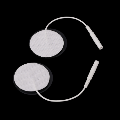 2Pcs Round Electrode Pads with Cable for Medium Frequency TENS Therap H14138