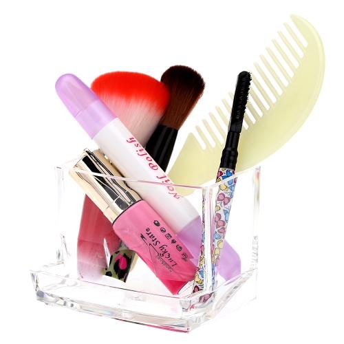 Transparent Crystal Acrylic Cosmetic Cotton Swab Q-tip Storage Holder H14317