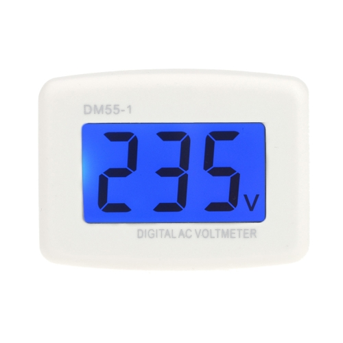 Buy DM55-1 AC 80-300V LCD Digital Volt Meter Voltmeter EU Plug Electric Pen Meters