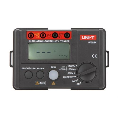 DIY Electronics H14447 UNI-T UT502A  2500V Insulation Resistance Tester Megohmmeter Voltmeter Continuity Tester w/LCD Backlight
