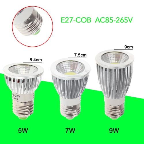 E27 7W COB LED Spot Light Lamp Bulb High Power Energy Saving 85-265VLED Spotlights<br>E27 7W COB LED Spot Light Lamp Bulb High Power Energy Saving 85-265V<br><br>Blade Length: 8.0cm